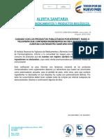 ALERTA SANITARIA PRODUCTOS SIN REGISTRO SANITARIO.pdf