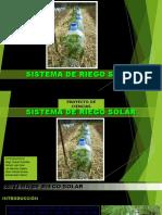 RIEGO SOLAR - Exposicion