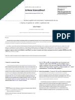 Transferencia de Conocimientos Sobre La Gestión Del Conocimiento Implementación de Un Programa Complejo de Cambio Organizativo