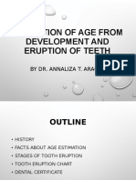 Estimation of Age From Development and Eruption of (2)