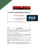 GO II 10Quali - Custos Da Qualidade