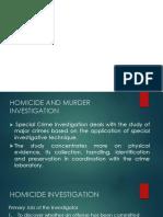 Homicice and Murder Investigation