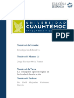 Jorge Enrique Ortiz Porras 1.1 La Epistemología en La Ciencia de La Educación