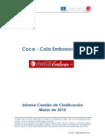 Coca Cola Embonor Informe Cambio de Clasificacion Marzo 2010
