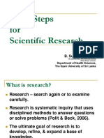 Basic Steps for Scientific Research