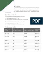 CAD Scale Factors