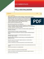 Cartilla Para la Segunda Evaluación de buenas practicas ambientales