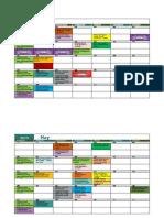 Activities Calendar April 2019