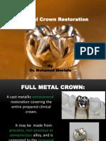 Full Metal Crown Prep.