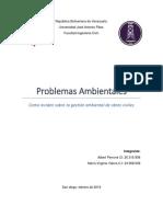 Asignacion #2 Problemas Ambientales y Su Impacto en La Gestion Ambiental de Obras Civiles