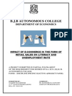 Impact of E-commerce in the form of retail sales on literacy and unemployment rate