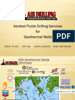 Aerated Drilling for Geothermal Wells