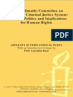 AI Critique on Malimath Committee on Criminal Reforms