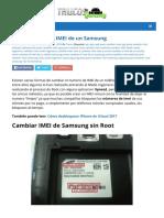 Como Cambiar El Imei de Un Samsung Trucos Galaxy