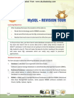 CBSE Class 12 Informatic Practices MySQL
