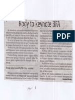 Daily Tribune, Apr. 22, 2019, Rody to keynote BFA.pdf