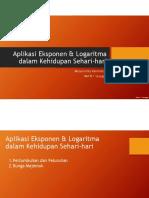 Aplikasi Eksponen n Logaritma Dalam Kehidupan Sehari-hari