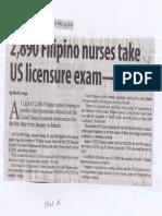 Manila Standard, Apr. 22, 2019, 2,890 Filipino nurses take US licensure exam - Bertiz.pdf