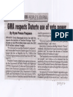 Peoples Journal, Apr. 22, 2019, GMA respects Duterte use of veto power.pdf