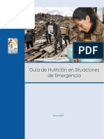 Guía de nutrición en situaciones de emergencia