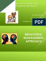 Behavioural Approach of Mgt.