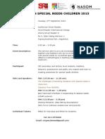 Event Fact Sheet