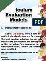 Curriculum Evaluation Models