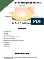 Management of Malignant Ascites