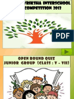 2nd Kalpavriksha Interschool Quiz Competition 2013