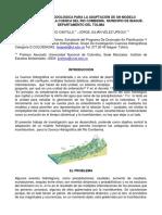 Poster Adapacion de un Modelo Hidrologico