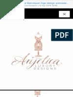 Rose Gold Vintage Mannequin Logo Design Premade Elegant Dress Etsy