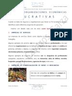 Tipos de Organizaciones Económicas Lucrativas