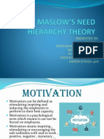 Maslow's Need Theory Ppt