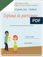 Diploma de Participare - Fantanele