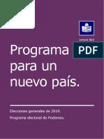 Programa Electoral de Podemos para las Elecciones Generales 2019