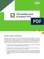 Programa electoral Vox Elecciones 2019