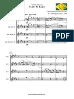 Debussy claire de luna sax quartetto