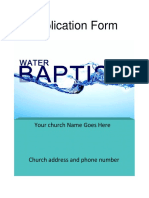 Water Baptism Application Explanation