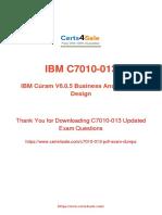 C7010-013 Exam Dumps PDF Updated 2019.pdf