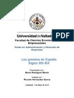 Gremios en España s XIII-XIX