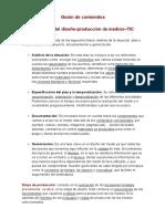 Etapas y fases del Diseño-Producción de medios~TIC