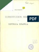 Proyecto de Constitución Federal 1873