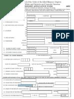 AMD - Application Form