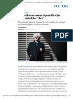 """Franco Berardi_ """"El Problema Es Cómo La Pantalla Se Ha Apoderado Del Cerebro"""" _ Cultura _ EL PAÍS"""