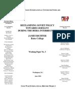 CWIHP - WP 03 - Reexamining Soviet Policy Towards Germany during the Beria Interregnum