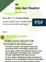 2 Pemilihan Reaktor