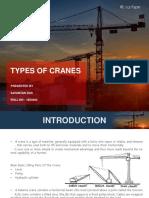 Types of Cranes.