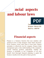 Entrepreneurship financial aspect and labour law