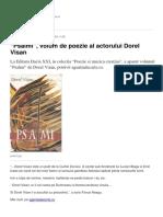 Psalmi Volum de Poezie Al Actorului Dorel Visan (1)