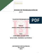 TALLER 1;Taller de Programación